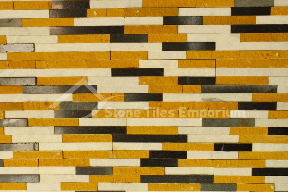 Yellow,White and Black stone cladding Bangalore